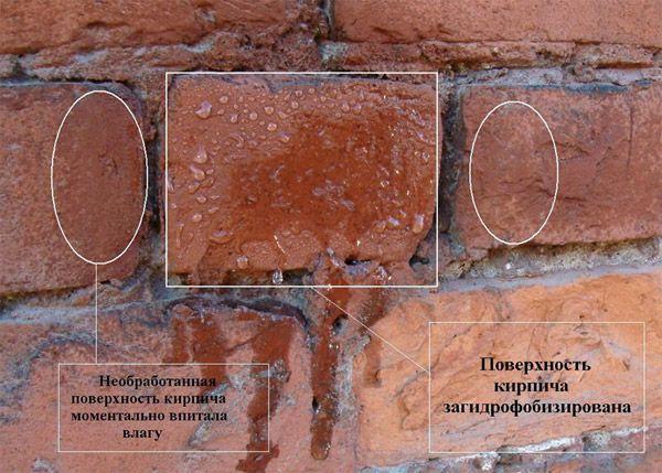 Гидрофобизация кирпича
