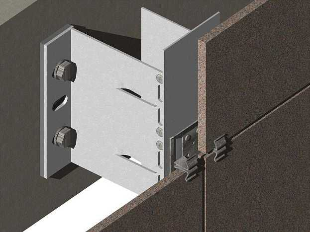 Монтаж вентилируемого фасада из керамогранита