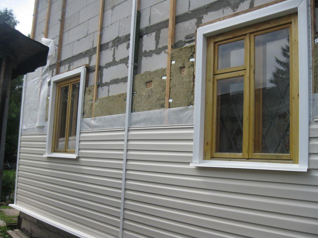 Монтаж вентилируемого фасада с пластиковым сайдингом