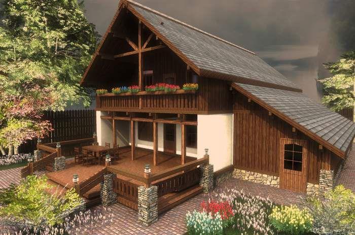 Самой яркой характерной особенностью деревенского стиля является отсылка к этническим мотивам во внешней отделке жилища