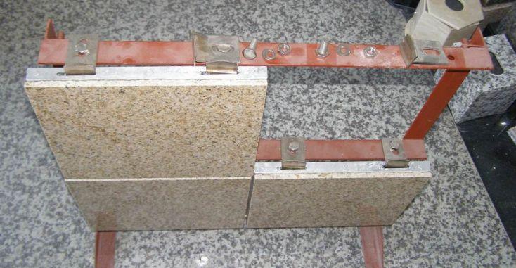 Схема монтажа керамогранитных плит