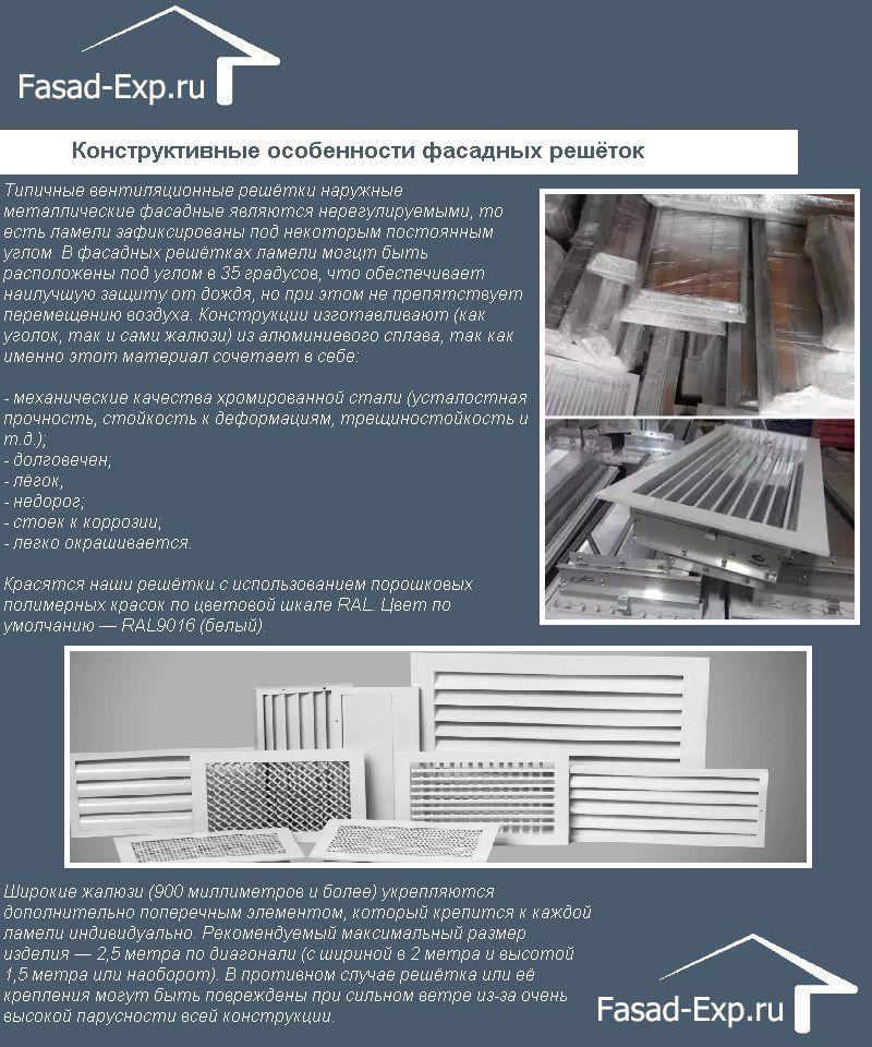 Конструктивные особенности фасадных решёток