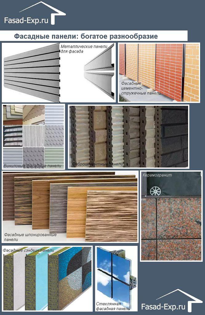 Фасадные панели: богатое разнообразие