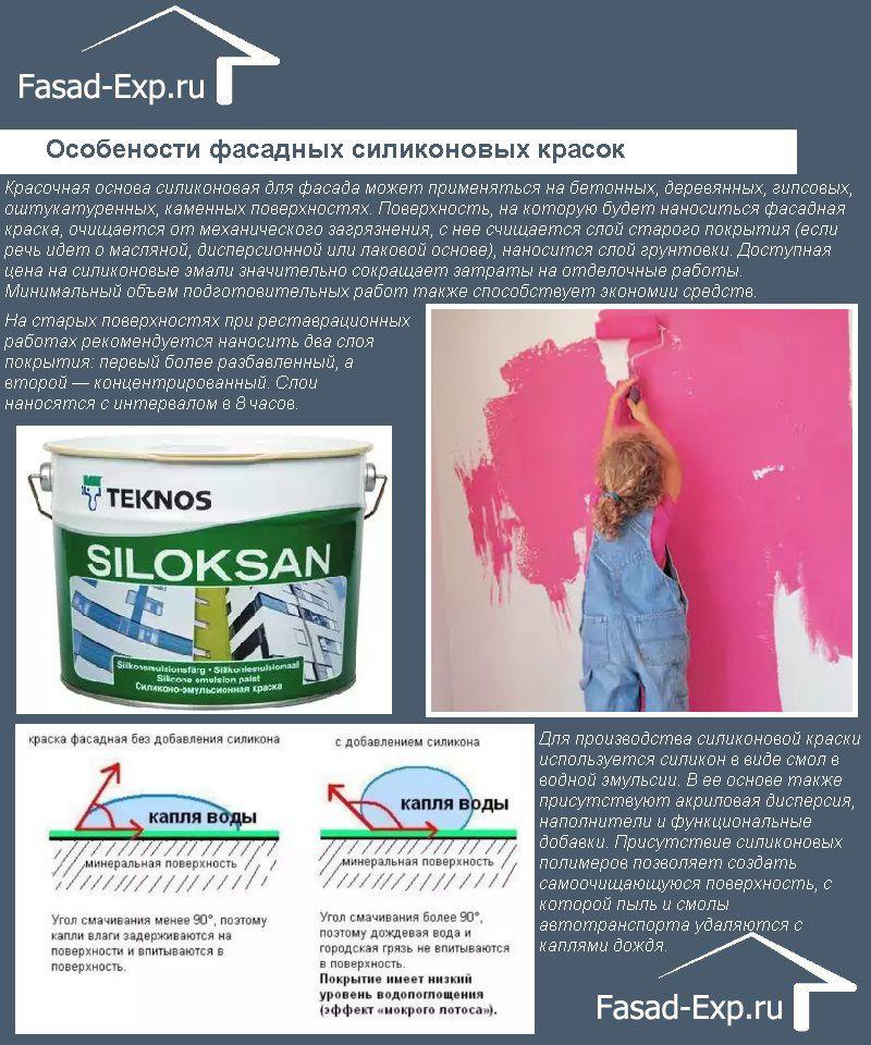 Фасадные краски на силиконовой основе
