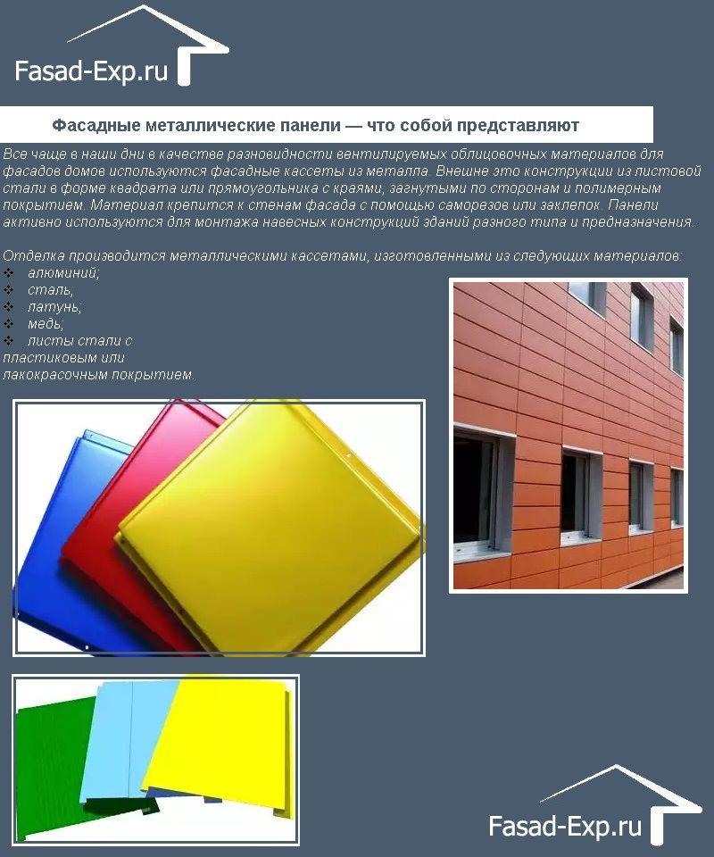 Фасадные металлические панели — что собой представляют