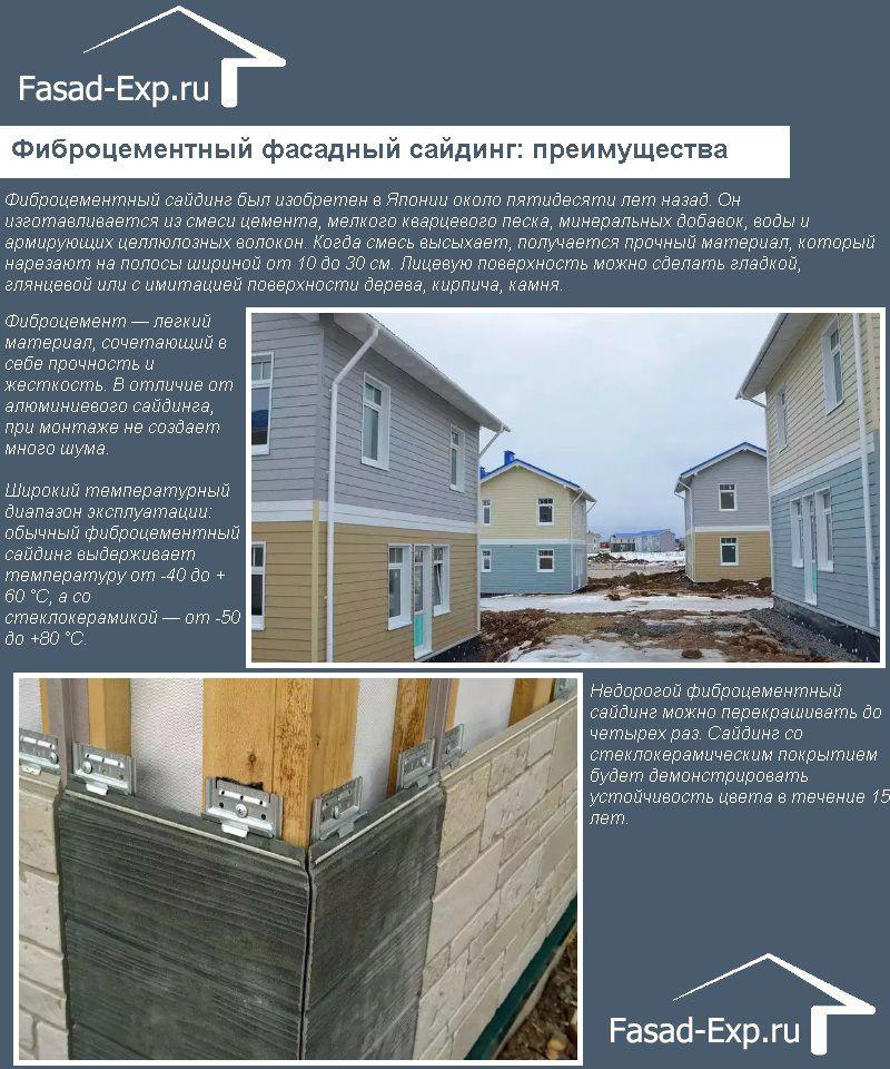 Фиброцементный фасадный сайдинг: преимущества