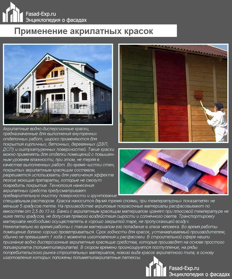 Применение акрилатных красок