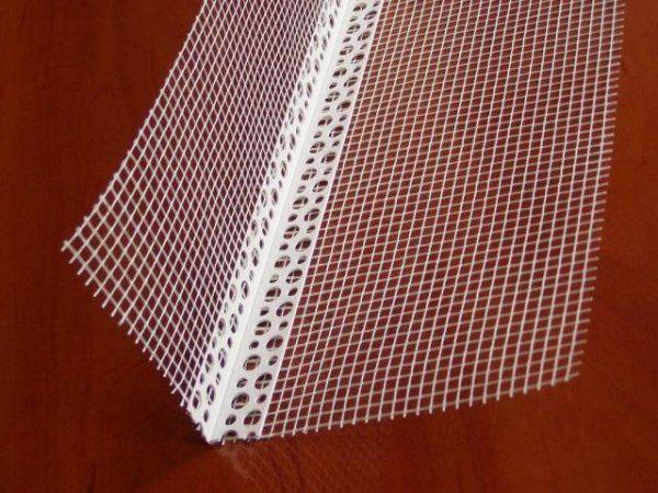Уголок с армирующей сеткой для углов здания