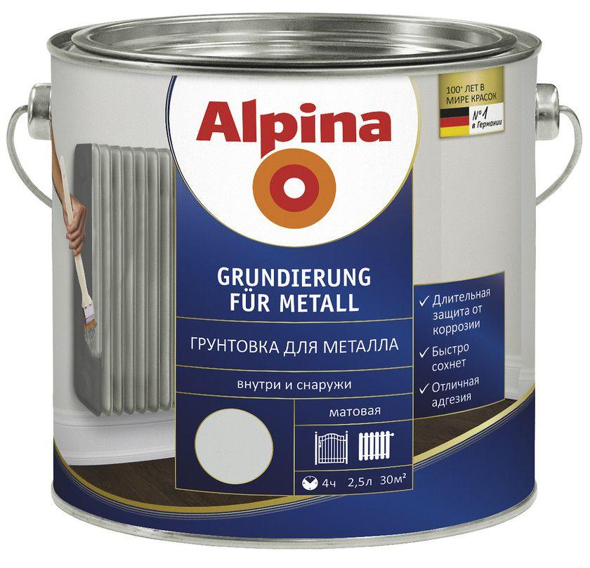 Грунтовка для металлических поверхностей Alpina Grundierung für Metall