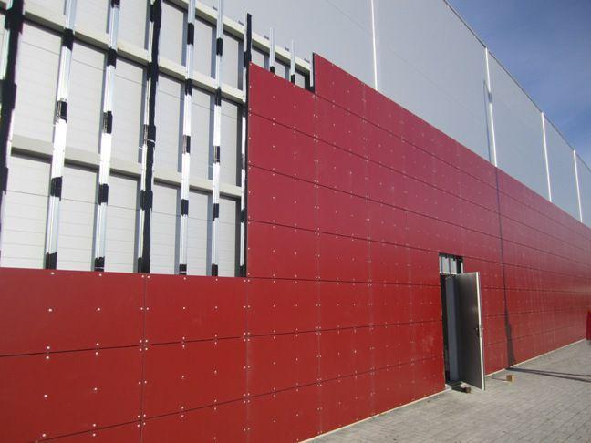 Фасад из ламинатных hpl панелей