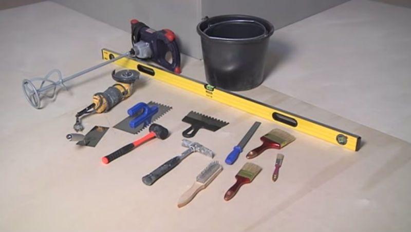 Инструменты для облицовки фасада искусственным камнем
