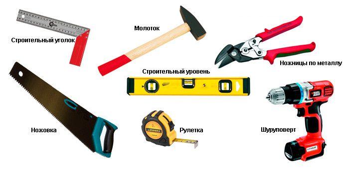 Инструменты для отделки балкона вагонкой