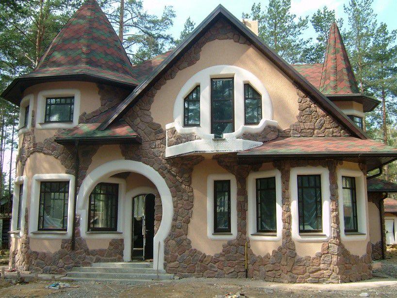 Интересный вариант отделки фасада
