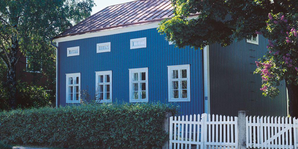 Качественно окрашенный фасад