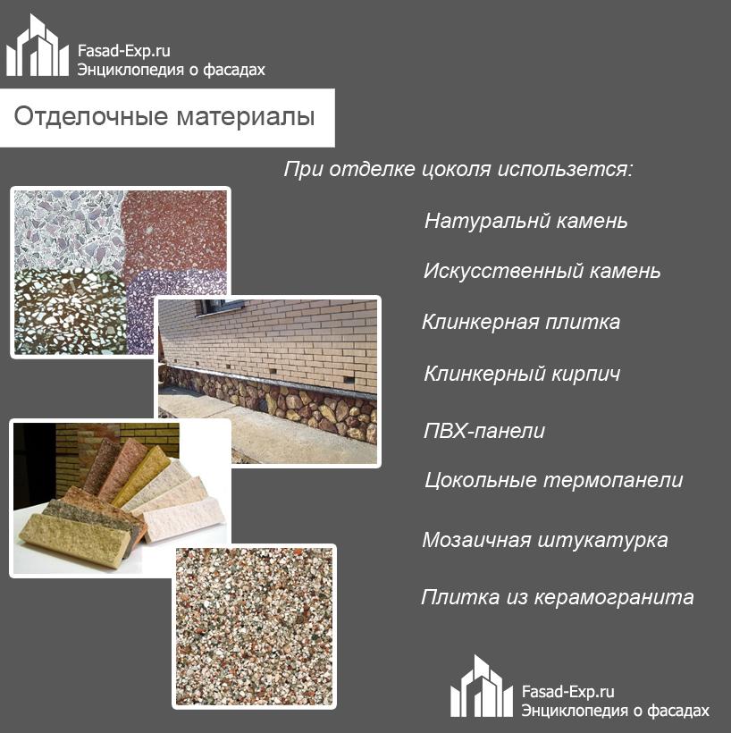 Материалы для отделки цоколя