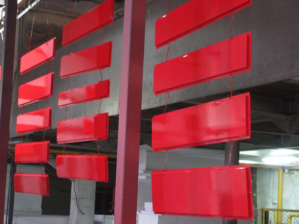 Металлические фасадные панели на автоматической покрасочной линии