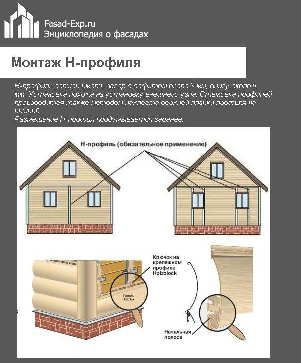 Монтаж H-профиля