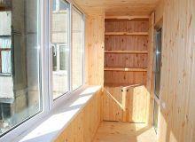 Отделка балкона вагонкой изнутри своими руками