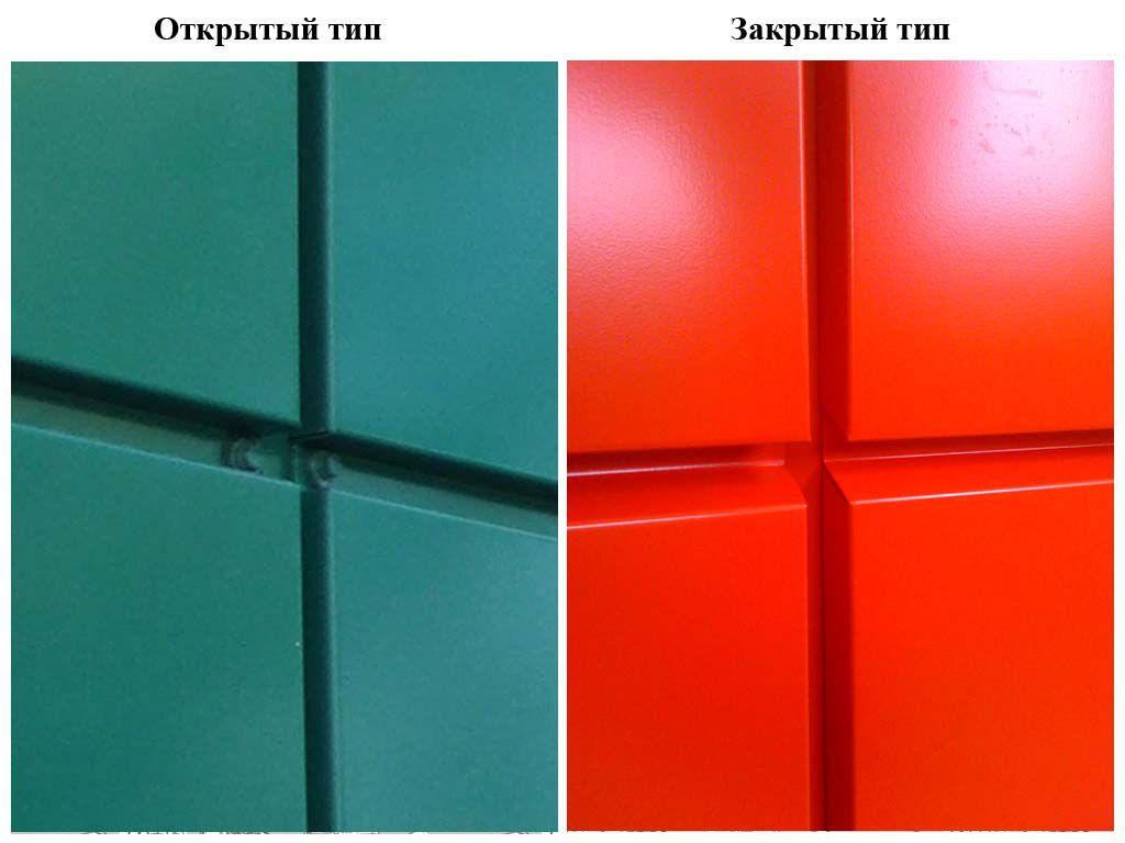 Отличие закрытого и открытого типа крепления