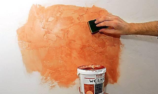 Покраска декоративной штукатурки