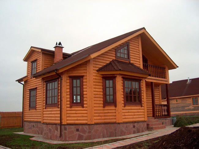 Пример отделки фасада блок хаусом