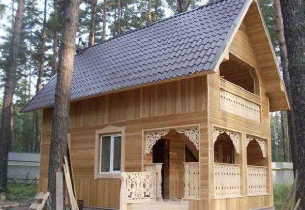 Пример отделки фасада деревянной вагонкой
