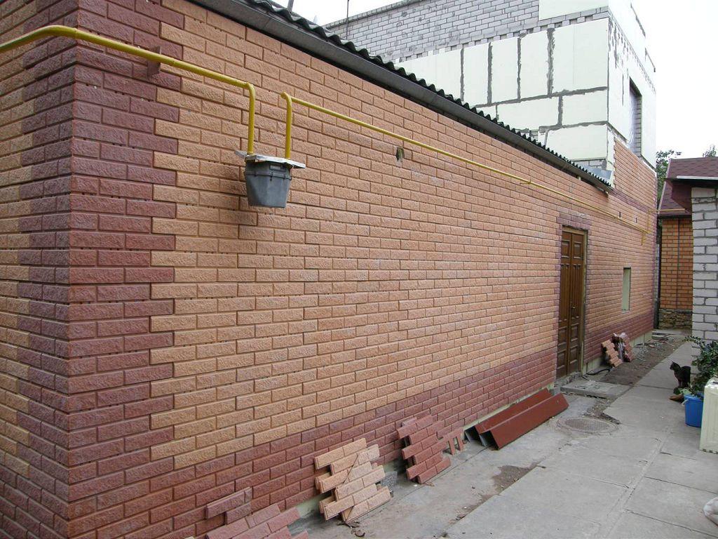 Пример отделки фасада панелями
