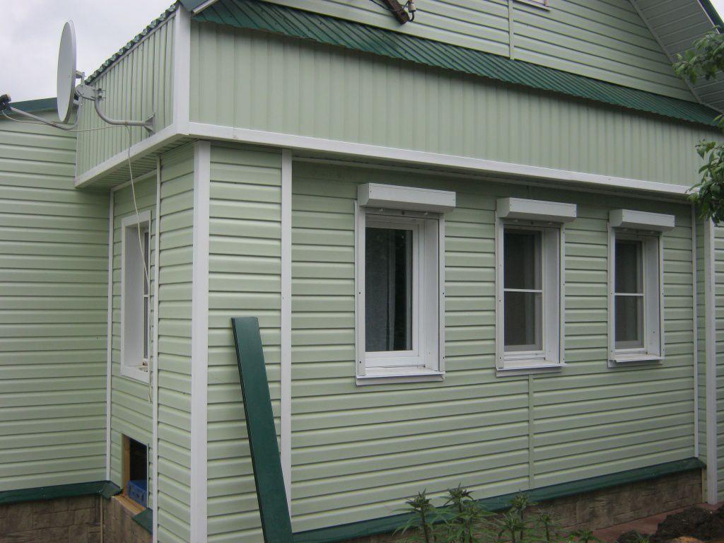Пример отделки фасада винилоым сайдингом