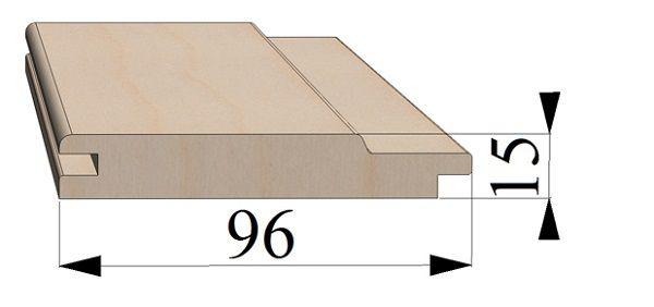 Профиль вагонки шириной 96 мм