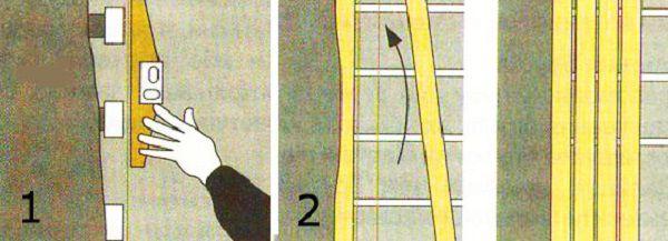 Проверка ровности каркаса и монтаж панелей сайдинга