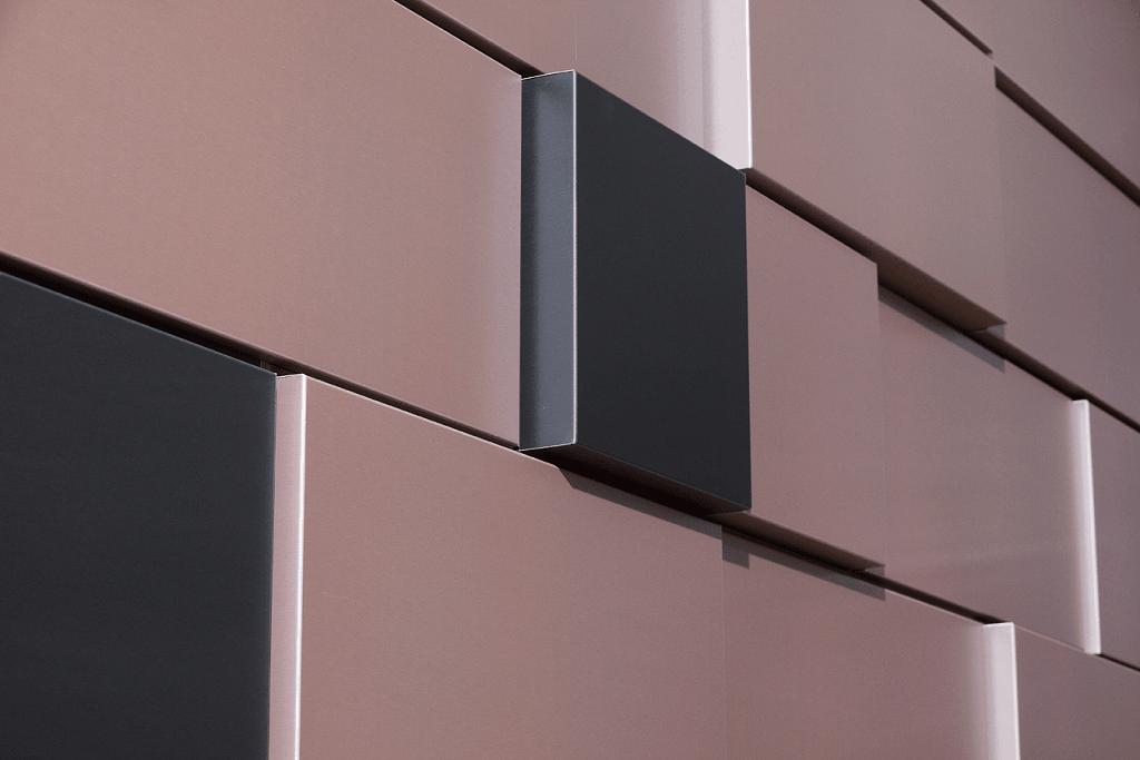 Современные алюминиевые фасадные кассеты