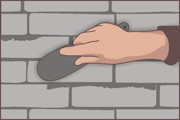 Удалите попавший на лицевую часть камня клей