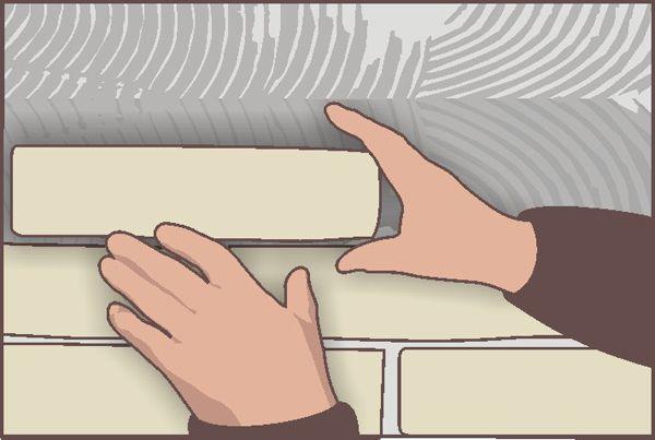 Укладка декоративных плиток
