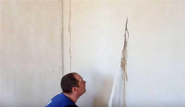 Вынимаем маячки из заштукатуренной стены