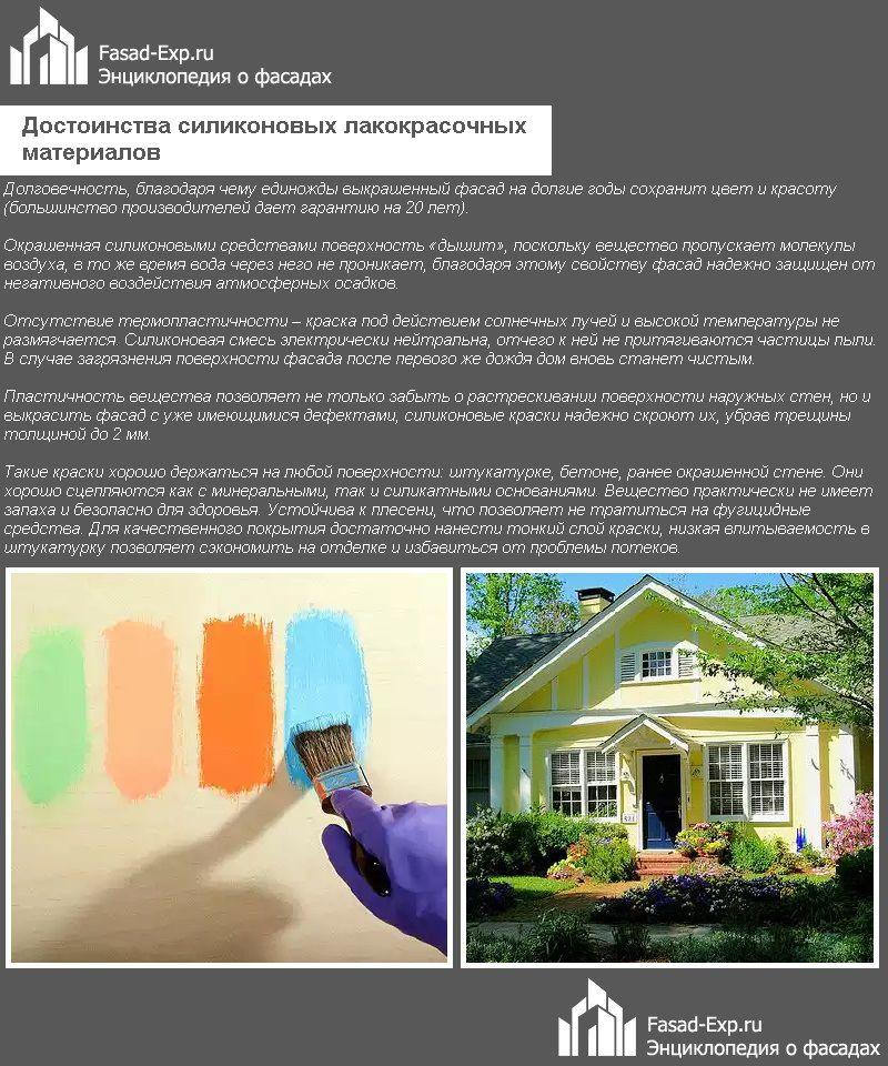 Достоинства силиконовых лакокрасочных материалов