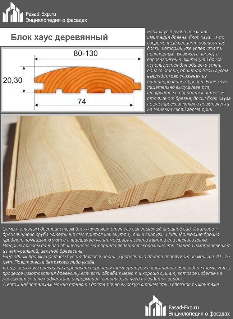 Блок хаус деревянный