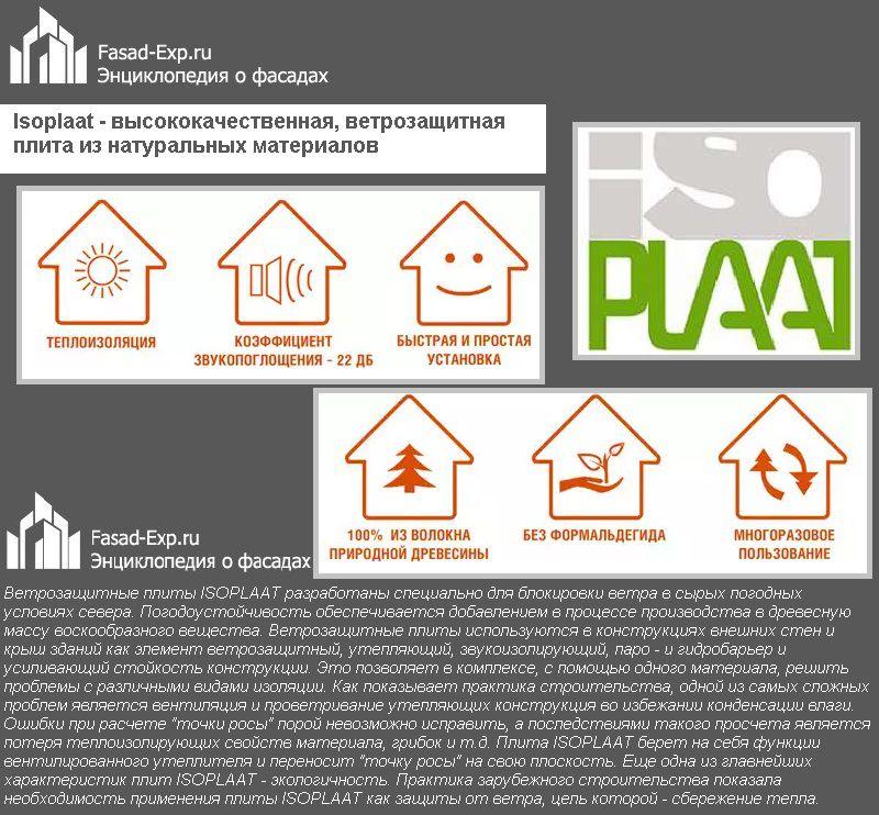 Isoplaat - высококачественная, ветрозащитная плита из натуральных материалов