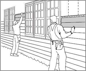 Монтаж основных сайдинговых панелей