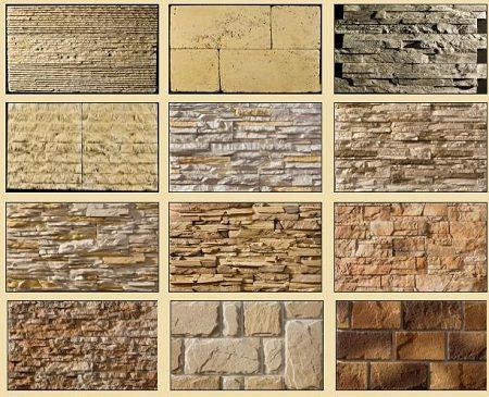 Разные варианты облицовки цоколя дома при помощи камня.