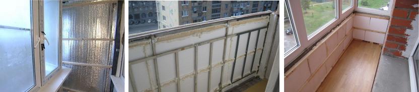 утепление балкона пенопластом при обшивке сайдингом (вариант с металлическим каркасом)