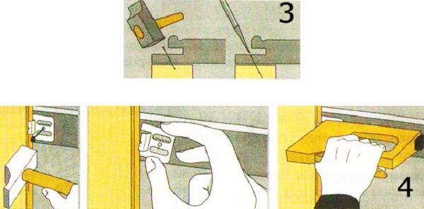 Монтаж панелей кляймерами