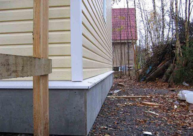 Готовый бетонный цоколь