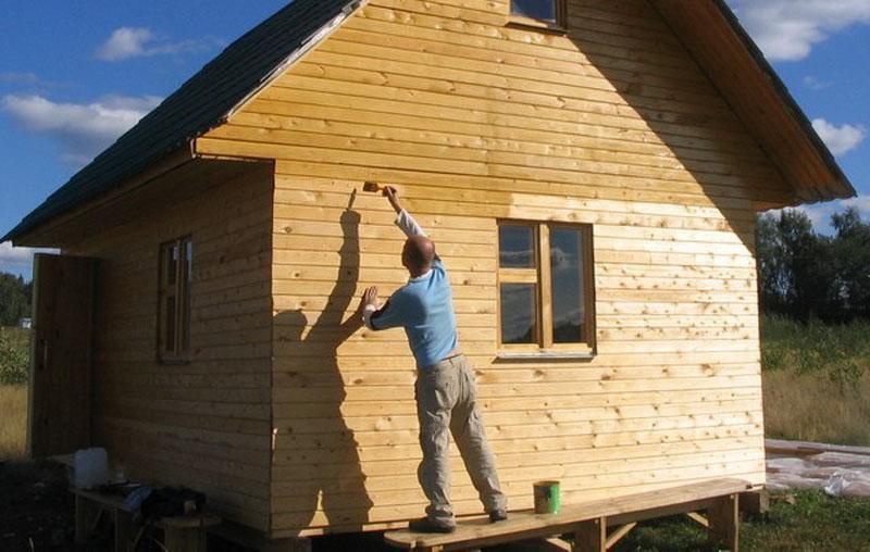 Обработка деревянного фасада