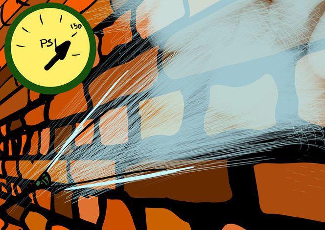 Если ваши стены сильно запачканы грязью, то используйте специальный аппарат для мытья под давлением