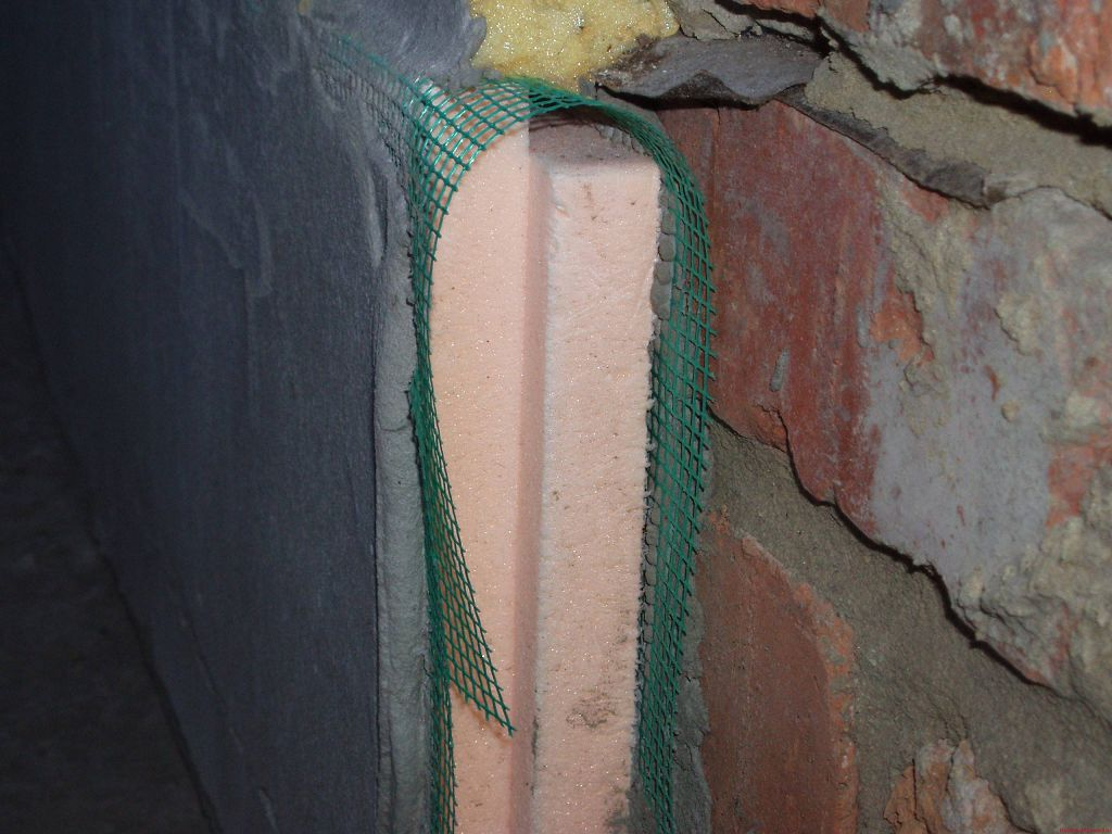 Фото - пирог из утеплителя и сетки для армирования