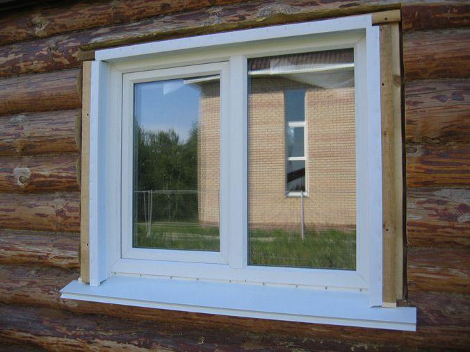 Готовое окно с установленными откосами