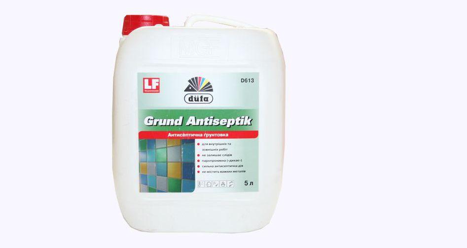 Грунтовка антисептическая для внутренних и наружных работ