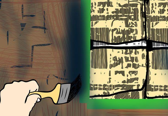 Малярная кисть вам понадобится, чтобы закрасить места, куда вы не смогли добраться распылителем или валиком