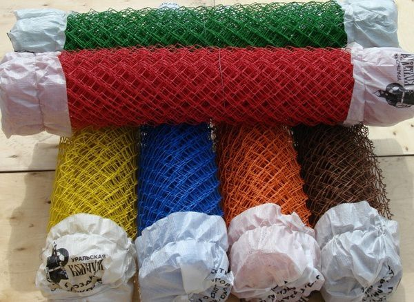 Металлическая сетка с полимерным покрытием