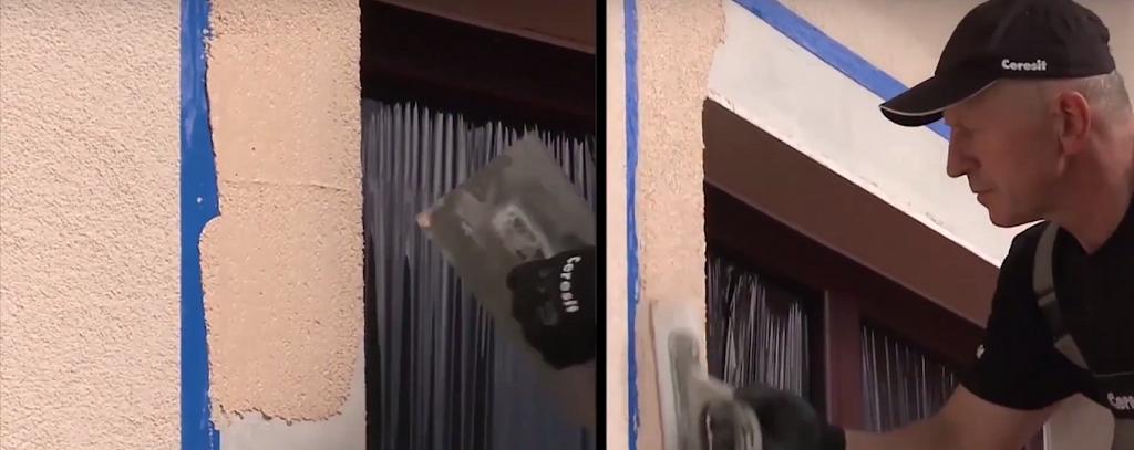 На фото показано, как вместо реек использовать клейкую ленту для разграничения двух оттенков